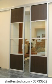 transparent sliding door
