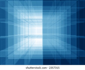 Transparent spatial screens geometric background