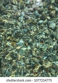 Transparent water on Palmarola island