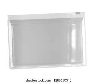Transparent White Plastic Zip Lock Bag 3D