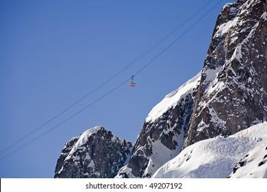 transport en montagne dans le massif du Mont-Blanc