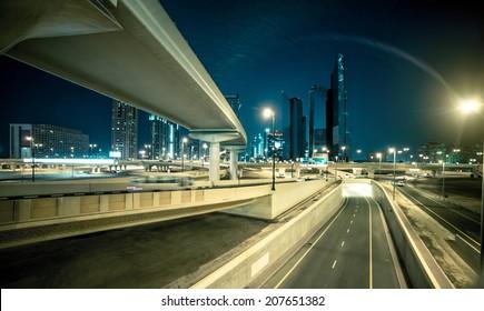 transport interchange in Dubai. UAE