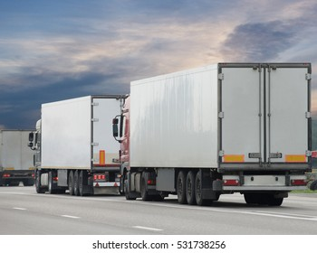 transport on a large highway. freight transport