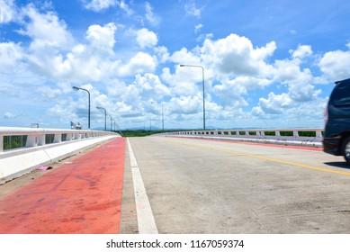 Transport on prasae sin bridge in klaeng foursquare rayong Thailand
