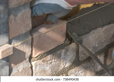 Transport and stacking of bricks, Preparation of the workplace on the construction site Mixing of mortar clinker bricklayer