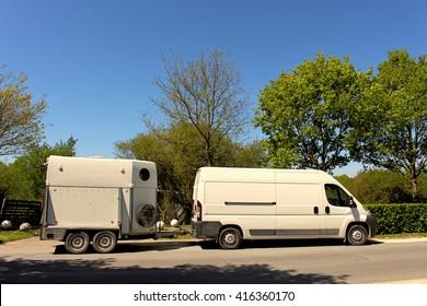Transport truck for horses