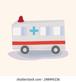 transportation ambulance theme elements