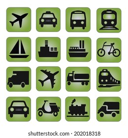 transportation icon on green texture