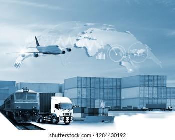 transportation import export concept