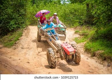 Transportation in Laos.Sukhuma, Champasak/Laos PDR. May 15, 2017
