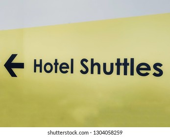 Transportation Signs for directions, hotel shuttle