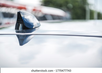 Transportation Technologies. Modern Vehicle GPS Roof Antenna Used For Car Navigation and Localization When Stolen