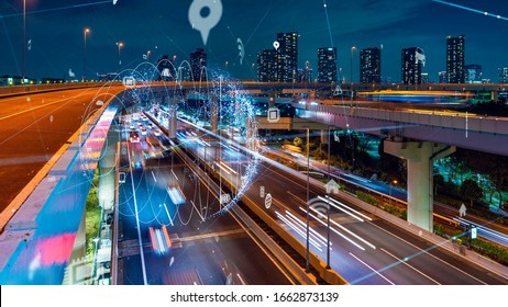 Transportation and technology concept. ITS (Intelligent Transport Systems). Mobility as a service.