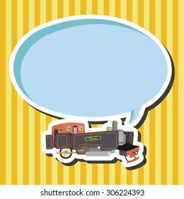 transportation train, cartoon speech icon