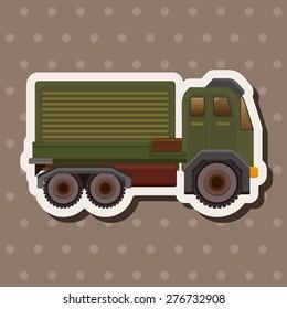 transportation truck , cartoon sticker icon