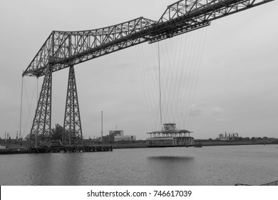 The Transporter Bridge over the River Tees at Middlesbrough, United Kingdom