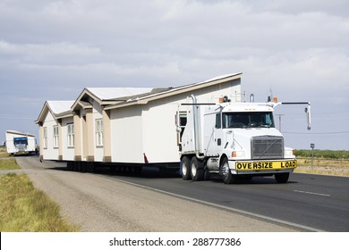 Transporting portable homes - New Mexico.