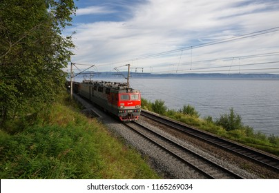 Trans-Siberian Railway near Lake Baikal in Eastern Siberia