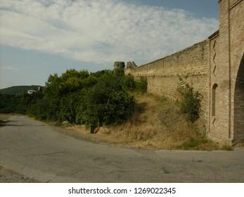 Transylvania, Romania / Romania - April 2016: Castle wall in Transylvania