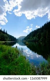 Transylvanian Romania Red Lake Lacu Rosu