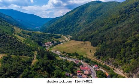 Transylvanian village Sadu, Romania, Sibiu County