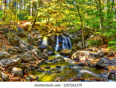 Trap Falls in Ashby, Massachusetts in fall colors