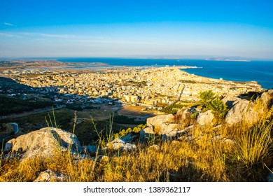 Trapani from above and from afar-Sicily-Italy