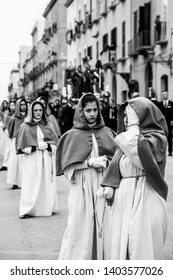 TRAPANI, ITALY - Aprile 19-20, 2019 - The Mysteries of Trapani is a 24 hours long procession featuring 20 floats of lifelike scenes of the Passion's events, running in the Good Friday and Saturday