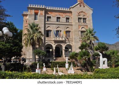 TRAPANI, ITALY - CIRCA SEPTEMBER 2017: Palazzo Florio palace