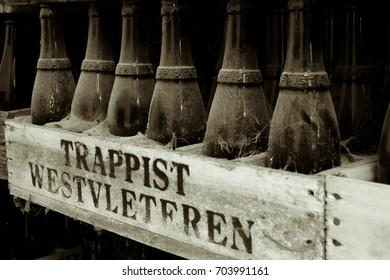 Trappist Westvleteren Beer - Old Beer Bottles. Poperinge, Belgium. June 2012.