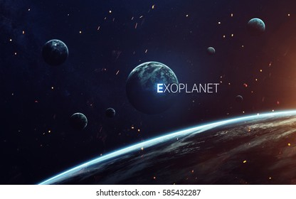 Trappist-1e exoplanets away from solar system. Elements furnished by NASA