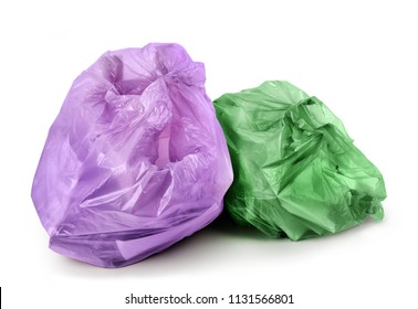 Trash bags isolated on a white background