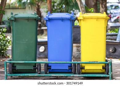Trash bin three