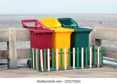 Trash can, Bins, Trash beach, Barrel plastic bin Sort waste, Recycle
