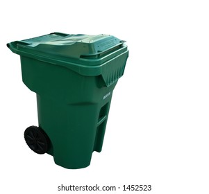 Trash Can - Green. Isolated