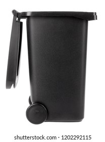 Trash can open plastic black