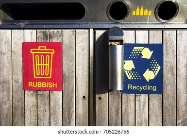 Trash in public places in Australia, recycle garbage, for tobacco