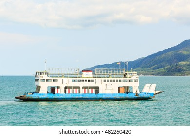 TRAT , THAILAND- SEPTEMBER 12 , 2016 : Port ferry boat in Koh Chang Island, Trat, ,Thailand on September 12 , 2016. Koh chang Is the second largest island of Thailand.