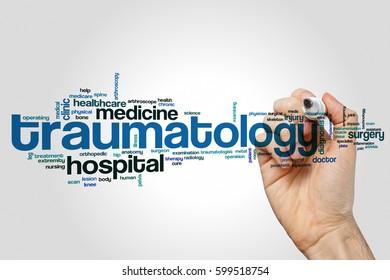 Traumatology word cloud concept