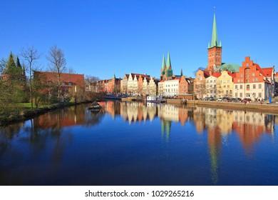 Lübeck, Trave river,  Germany