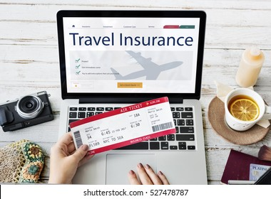 Travel Aviation Insurance Website Concept