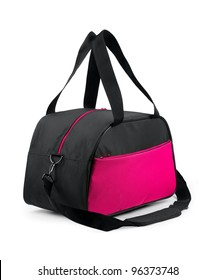 Travel bag on a white background. Isolated path included.