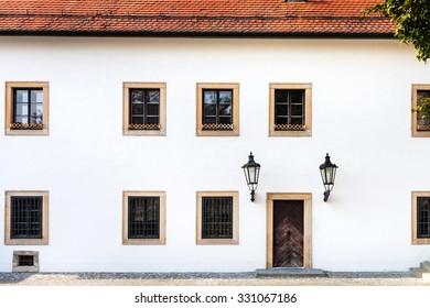 travel to Bratislava city - white facade of old house in Bratislava castle