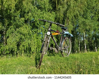 Travel by bicycle. Lutsk, Ukraine, July 25, 2018