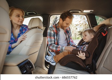 Travel by car family trip together vacation