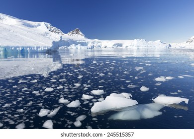Travel by the research ship. Studying of climatic and weather changes in Antarctica. Snow and ices of the Antarctic islands. The purest ice and water of the Antarctic fjords.