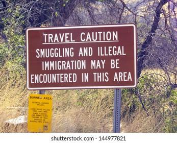 Travel Caution Sign