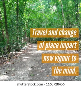 travel and change of place impart new vigor to the mind quote
