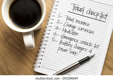 Travel checklist  conceptual