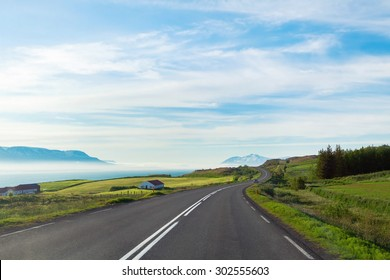 travel concept, background with beautiful road